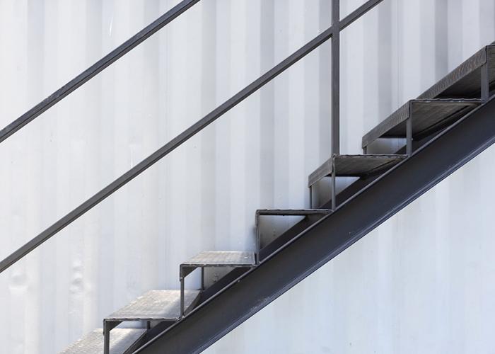 Escalier en métal à Chambéry
